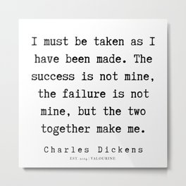 44    | Charles Dickens Quotes | 190727 Metal Print