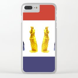 french venus colors Clear iPhone Case