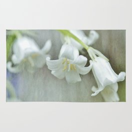 White bluebell...happily different Rug
