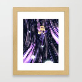 Earth in space Framed Art Print