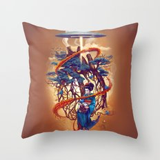 Pine container Throw Pillow