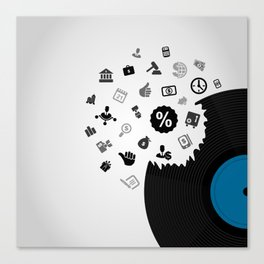 Business Vinyl Canvas Print