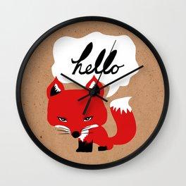 The Fox Says Hello Wall Clock