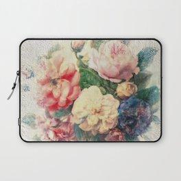Old Roses - Encaustic & Decoupage Laptop Sleeve