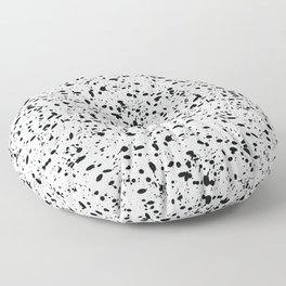 Black and white ink pattern Floor Pillow