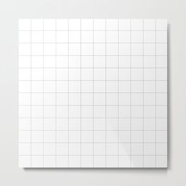 checked - petits carreaux  Metal Print