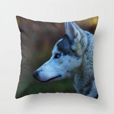 Blue eyes Throw Pillow