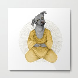 almost meditating dog 1 Metal Print
