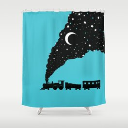 the night train Shower Curtain