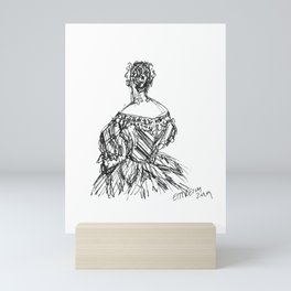 The Striped Gown Mini Art Print