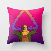 return Throw Pillows featuring The Return by -gAe-