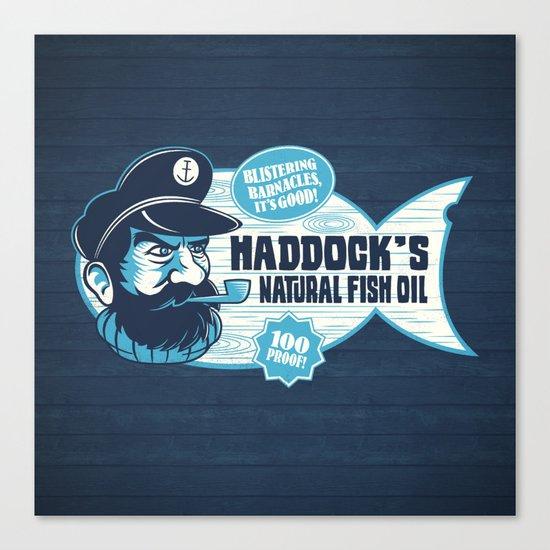 Haddock's Natural Fish Oil Canvas Print