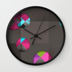 optical illusion black Wall Clock