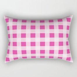 Barbie Pink Picnic Gingham Rectangular Pillow