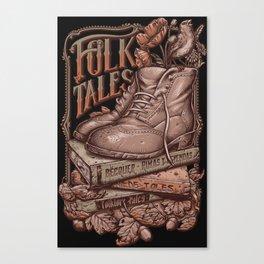 Folk Tales - Vintage colors Canvas Print