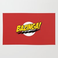 bazinga Area & Throw Rugs featuring The Big Bang Theory - Bazinga  by Bastien13