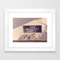 See Mystery Lights - Marfa, Texas Framed Art Print