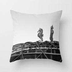 Vintage Seahorse Ride & Sign Throw Pillow