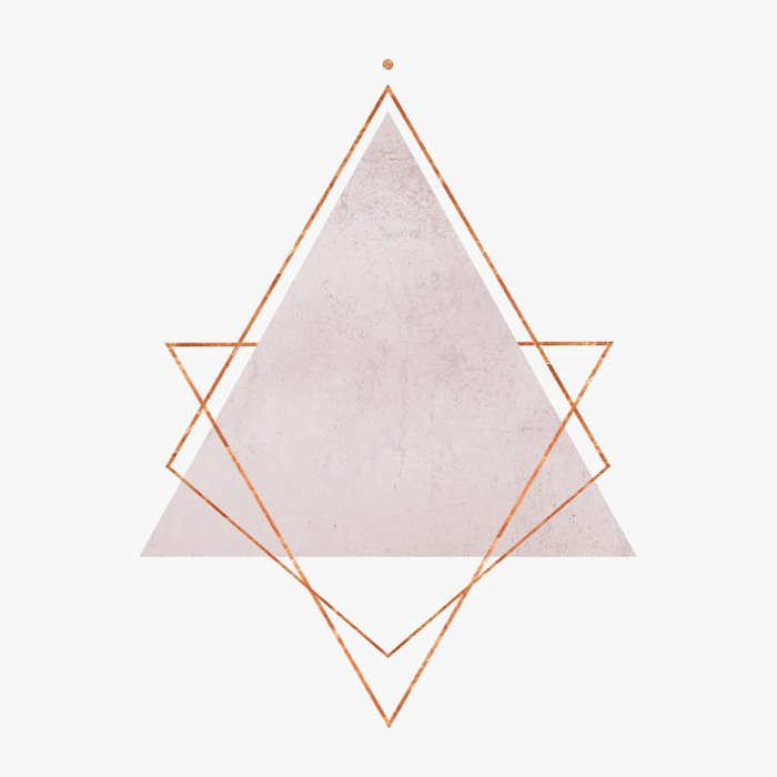 Blush Copper Rose Gold Geometric Syndrome Duvet Cover By