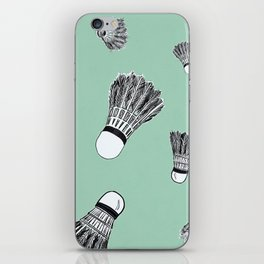 WHO WANTS TO PLAY BADMINTON? - MINT iPhone Skin