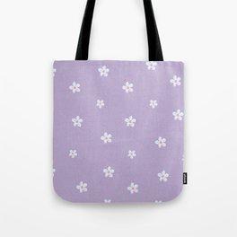 Modern lavender teal pink hand painted floral Tote Bag