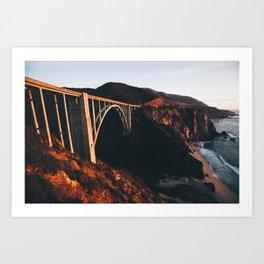 Sunburnt Bixby Bridge - Big Sur, California Art Print