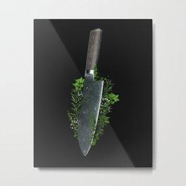 Knife with herbs Metal Print