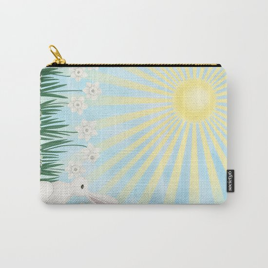 sunshine bunny with daffodils Carry-All Pouch