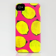 Lemon pattern Slim Case iPhone (4, 4s)
