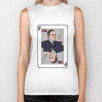 house of cards Biker Tanks featuring Francis Underwood - House of Cards by KODYMASON