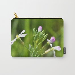 Small purple flowers Carry-All Pouch