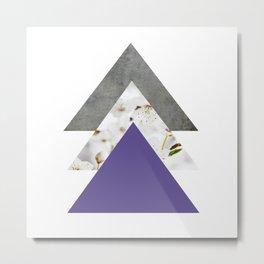 Ultra Violet Blossoms Arrows Metal Print