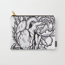 Flower Heart Illustration by Sophi Art Carry-All Pouch