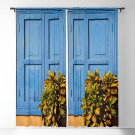 Blue Shutters Blackout Curtain