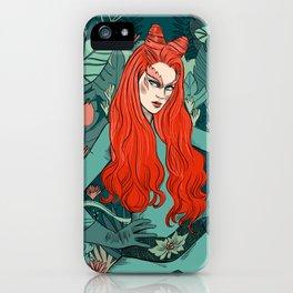 Poison Ivy - Supervillain illustration iPhone Case