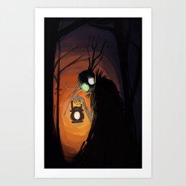 The Beast and the Lantern Art Print