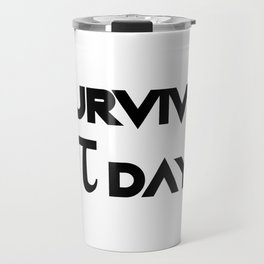 I Survived Pi Day Math Funny Gifts Travel Mug