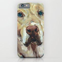 Golden Labrador Dog Portrait iPhone Case