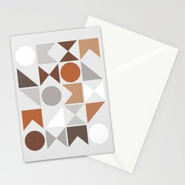 Mid Century Modern Geometric 16 Stationery Cards