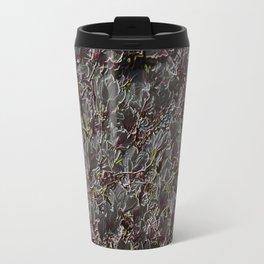dark magnolia pattern Travel Mug
