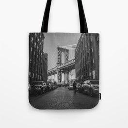 New York City Bridge (Black and White) Tote Bag