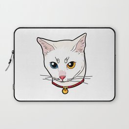 Khao Manee white Cat Face Love cool funny cute Laptop Sleeve