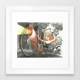 Steam Powered Penny Farthing Framed Art Print