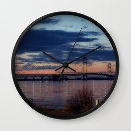 Mackinaw Bridge Wall Clock