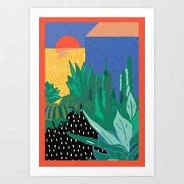 wavy desert Art Print