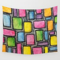 mod Wall Tapestries featuring Geometric Mod by Andrea Gingerich