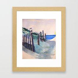 Wingaersheek Beach Path Framed Art Print