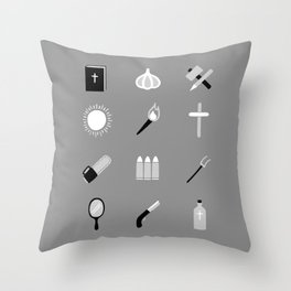 Monster Survival Guide Throw Pillow