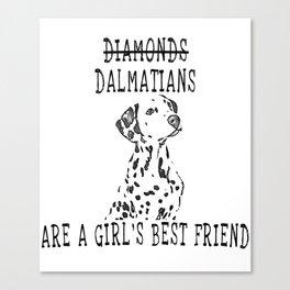 Cute Dalmatian Dog Canvas Print