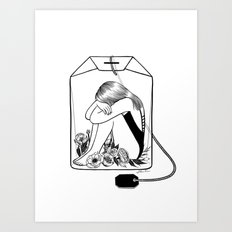 Lady Grey Tea Art Print